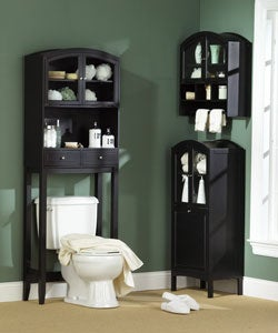 Black Arch Top Wall Cabinet - Thumbnail 2