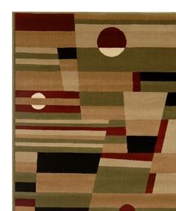 Admire Home Living Sorina Abstract Area Rug (7'9 x 9'6) - Thumbnail 2