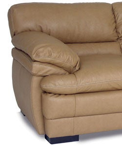 Dalton Tan Leather Sofa And Loveseat Free Shipping Today