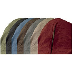 Large Memory Foam Lounge Bag with Removable Cover