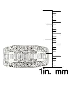 Miadora 14k White Gold 2ct TDW Diamond Engagement Ring - Thumbnail 2