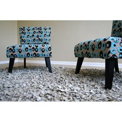 Chloe Contemporary Pattern Accent Chairs (Set of 2) - Thumbnail 2