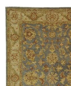 Safavieh Handmade Antiquities Jewel Grey Blue/ Beige Wool Rug (4' x 6') - Thumbnail 2