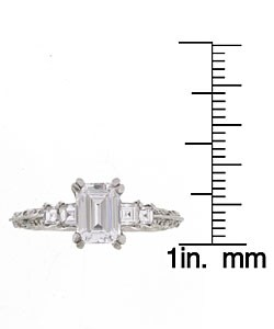 Tacori Platinum CZ 1/2ct TDW Diamond Wedding Ring - Thumbnail 2