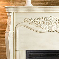Vienna Antique White Electric Fireplace with Remote - Thumbnail 2