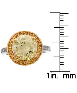 Sterling Silver Fancy Yellow CZ Cocktail Ring