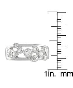 Journee Sterling Silver Bezel Set Cubic Zirconia Ring