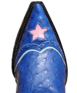 Jurassic Women's Ostrich Dark Blue Cowboy Boots