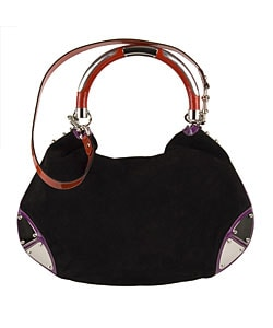 79ef1ac7cea022 Shop Gucci Black Suede 'Indy' Large Tassel Hobo Bag - Free Shipping ...