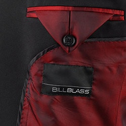 Bill Blass Men's Black Velvet Tuxedo Jacket - Thumbnail 2