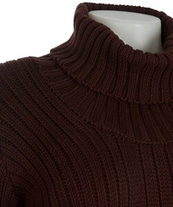 Coupe Long Sleeve Cable Knit Sweater Dress - Thumbnail 2