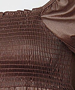 Copper Key Satin Finish Stretch Babydoll Top - Thumbnail 2