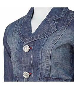 Highway Jeans Women's Denim Fashion Blazer
