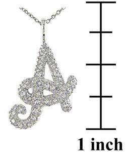 Miadora 10k Gold 1/6ct Diamond Initial Pendant Necklace