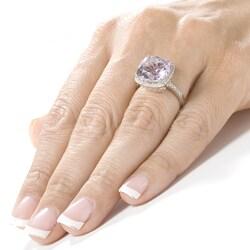 Annello by Kobelli 14k White Gold Amethyst 1/3ct TDW Diamond Ring - Thumbnail 2