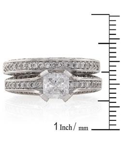 Annello by Kobelli 18k Gold 1 7/8ct TDW Diamond Bridal Ring Set (G-H, VS) - Thumbnail 2