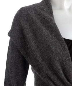 Sisters Cashmere Front Tie Sweater - Thumbnail 2