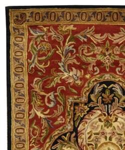 Safavieh Handmade Classic Royal Red/ Black Wool Rug (5' x 8') - Thumbnail 2