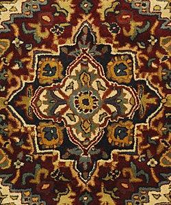 Safavieh Handmade Classic Heriz Red Wool Rug (3' x 5')