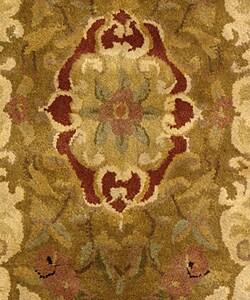 Safavieh Handmade Classic Juliette Gold Wool Rug (2' x 3') - Thumbnail 2
