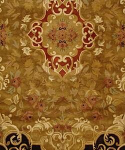 Safavieh Handmade Classic Juliette Gold Wool Rug (9'6 x 13'6) - Thumbnail 2