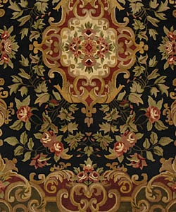 Safavieh Handmade Classic Juliette Black/ Green Wool Rug (9'6 x 13'6) - Thumbnail 2