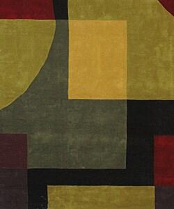 Safavieh Handmade Rodeo Drive Modern Abstract Black/ Multi Wool Rug (7'6 x 9'6) - Thumbnail 2