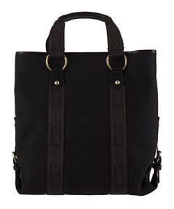 Shop Yves Saint Laurent Black Canvas Ysl Tote Bag Free
