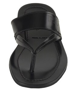 deb05a34383a Shop Prada Men s Black Leather Thong Sandals - Free Shipping Today ...