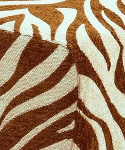 Occasional chair brown zebra print 11161007 overstock com shopping