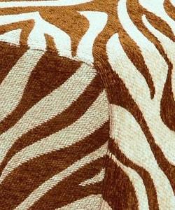 Occasional Chair Brown Zebra Print