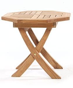 Octagonal Teak Folding Side Table
