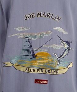 Joe Marlin Men's Embroidered Silk Shirt - Thumbnail 2