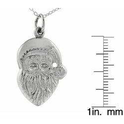 Journee Collection Sterling Silver Santa Claus Necklace - Thumbnail 2
