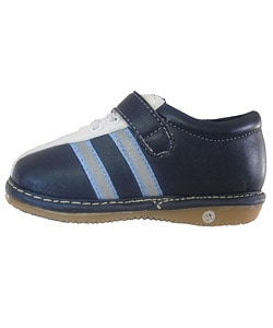 Squeakies Infant and Toddler Blue and White Shoes - Thumbnail 2