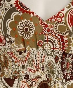 Sheri Martin Cotton Printed Hanky Hem Dress