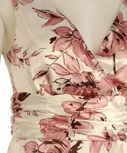 Connected Apparel Sleeveless Charmeuse Dress - Thumbnail 2