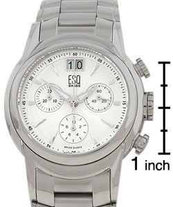 ESQ Quest Men's White Dial Chronograph Watch - Thumbnail 2