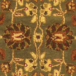 Safavieh Handmade Heritage Timeless Traditional Blue/ Beige Wool Runner (2'3 x 12') - Thumbnail 2
