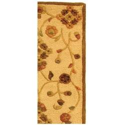 Safavieh Handmade Fable Cream New Zealand Wool Runner (2'3 x 8') - Thumbnail 2