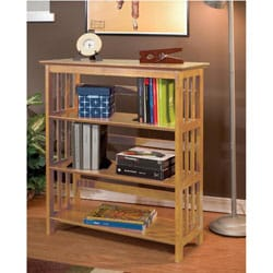 """36""""H Mission Style Solid Wood Bookcase - Thumbnail 2"""