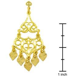 Thumbnail 3, Fremada 14k Yellow Gold Filigree Chandelier Earrings. Changes active main hero.