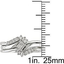 14k White Gold 1/3ct TDW Diamond Bridal Ring Set - Thumbnail 2