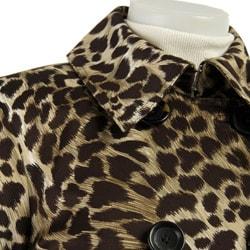 Michael Michael Kors Women S Leopard Print Trench Coat