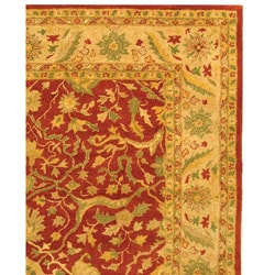 Safavieh Handmade Antiquities Mahal Rust/ Beige Wool Rug (9'6 x 13'6) - Thumbnail 2