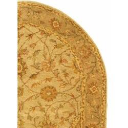 Safavieh Handmade Antiquities Kashan Ivory/ Beige Wool Rug (4'6 x 6'6 Oval) - Thumbnail 2