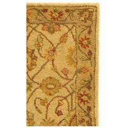 Safavieh Handmade Antiquities Kashan Ivory/ Beige Wool Runner (2'3 x 4') - Thumbnail 2