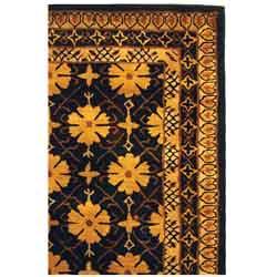 Safavieh Handmade Classic Agra Green/ Apricot Wool Rug (4' x 6')