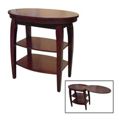 Elegant ... Cherry End Table With Swivel Extension