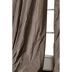Exclusive Fabrics Signature Gull Grey Faux Silk Taffeta 108-inch Curtain Panel